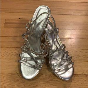 Worn once Rampage Frina silver heels size 8.5